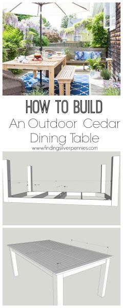 How to Build an Outdoor Cedar Dining Table