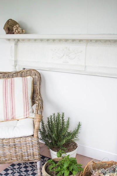 A pretty mantel