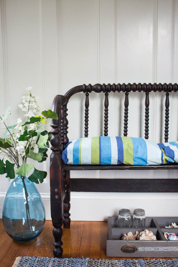 Awesome Diy Jenny Lind Bed To A Bench Finding Silver Pennies Ocoug Best Dining Table And Chair Ideas Images Ocougorg