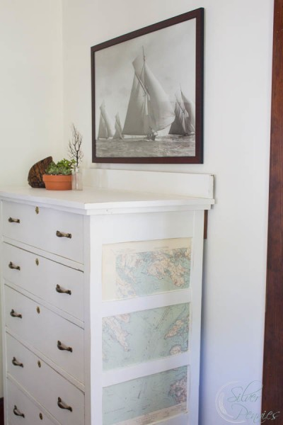 Nautical Chart Dresser by Finding Silver Pennies