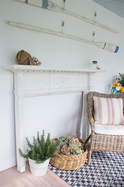 Painting a Mantel with Chalk Paint