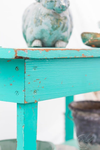 Turquois Bench Matthew Mead