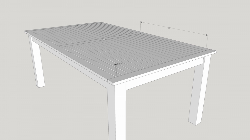 how to build an outdoor dining table