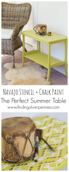 How to Create a Navajo Stenciled Table by Finding Silver Pennies