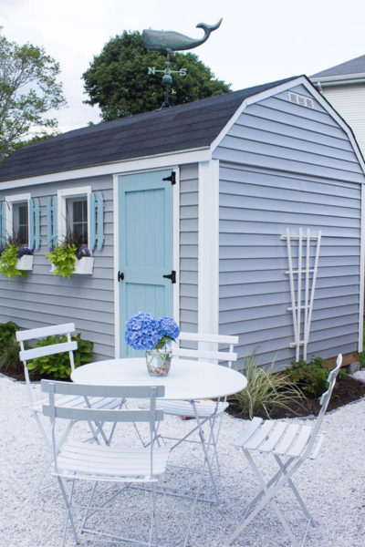 Beautiful Patio and She Shed