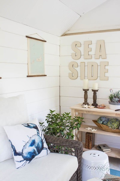 Crab and Seaside sign