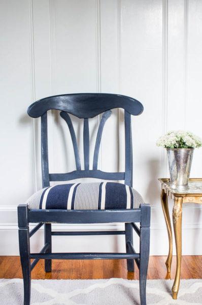 Graphite Chair with Paris Noir seat