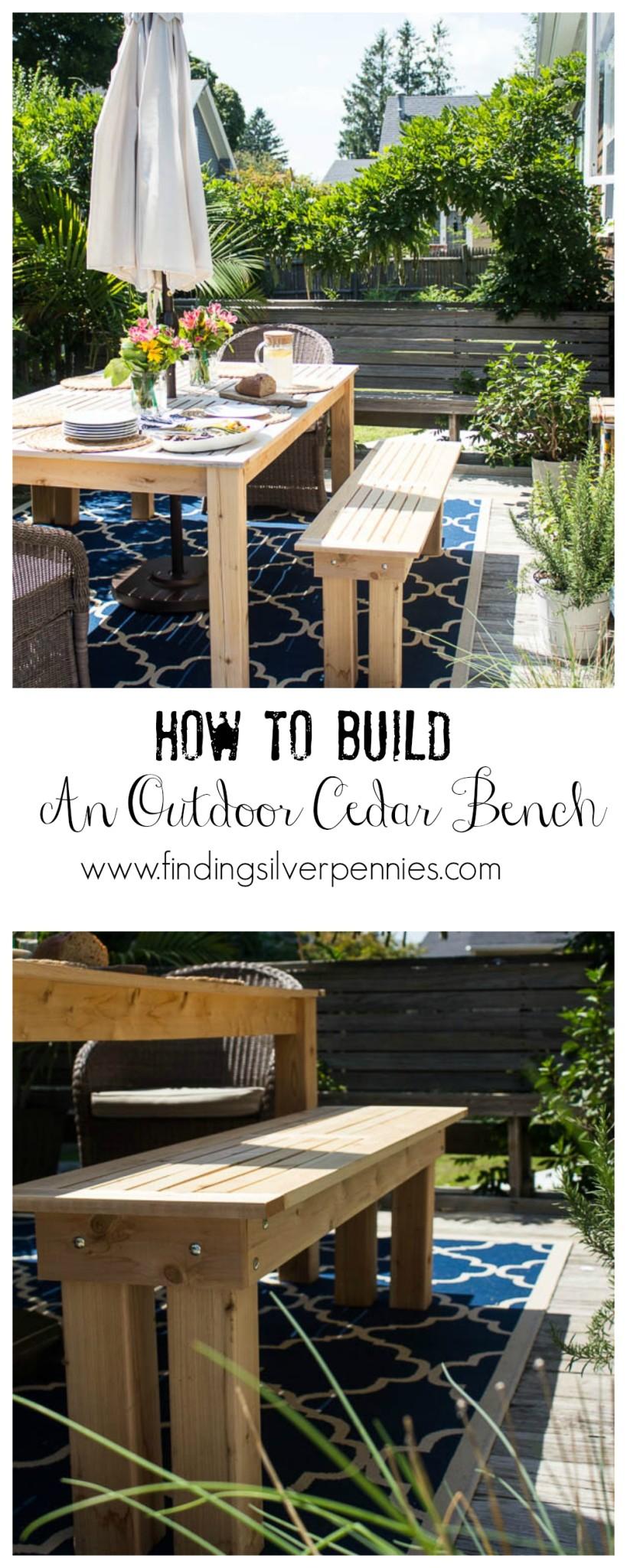 How to Build an Outdoor Cedar Bench Easy DIY