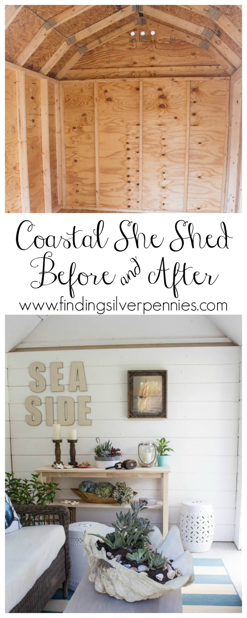 Interior Shed Decorating Ideas: My Coastal She Shed Reveal And Sources