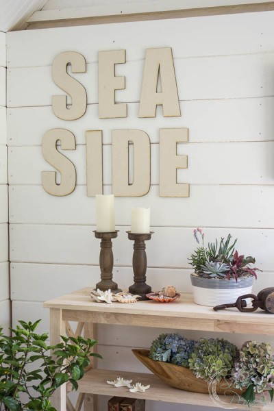 Sea Side Canvas Letters and Coastal Styling