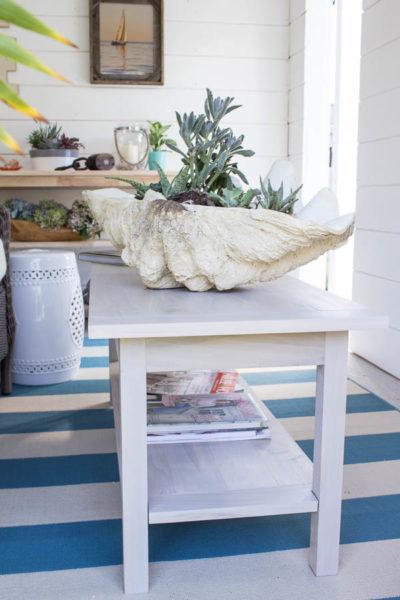 She Shed: DIY Coastal Coffee Table