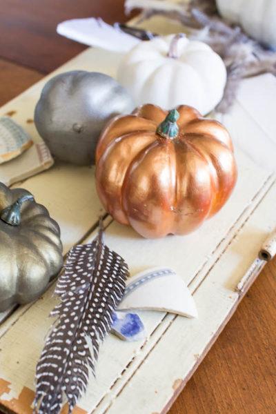 Pretty metallic pumpkins
