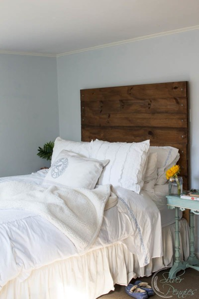 DIY Wood Headboard in our Bedroom