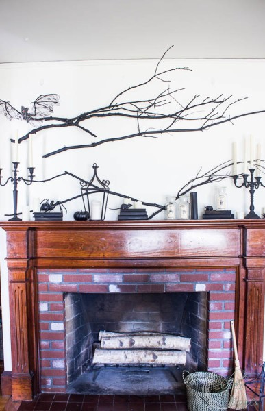 Finding Silver Pennies Halloween Mantel