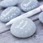 Beach Stone Garden Markers