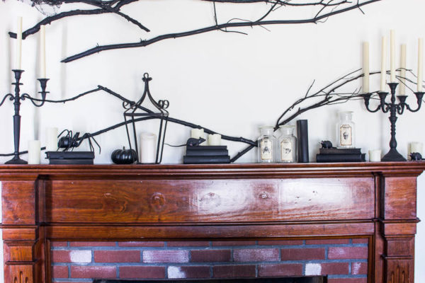 Halloween Mantel by Finding Silver Pennies
