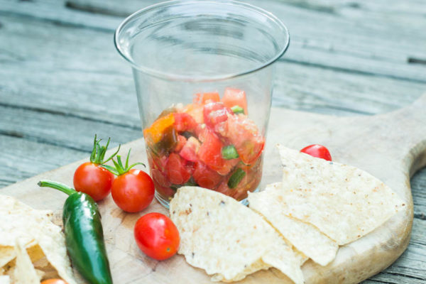 Homemade Salsa with tomatoes from our garden