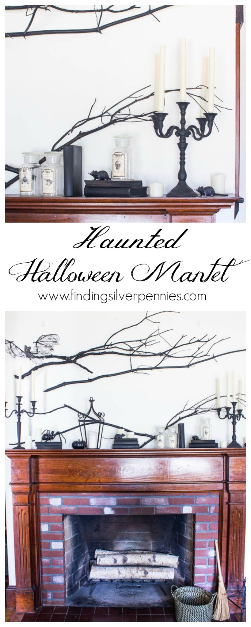 How to create a haunted halloween mantel