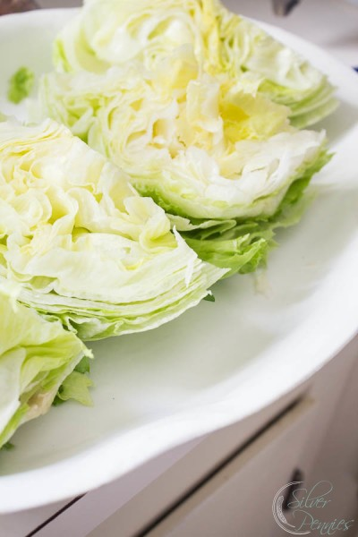 Making the wedge salad