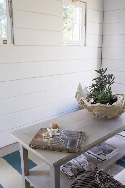 Streamlined coastal coffee table