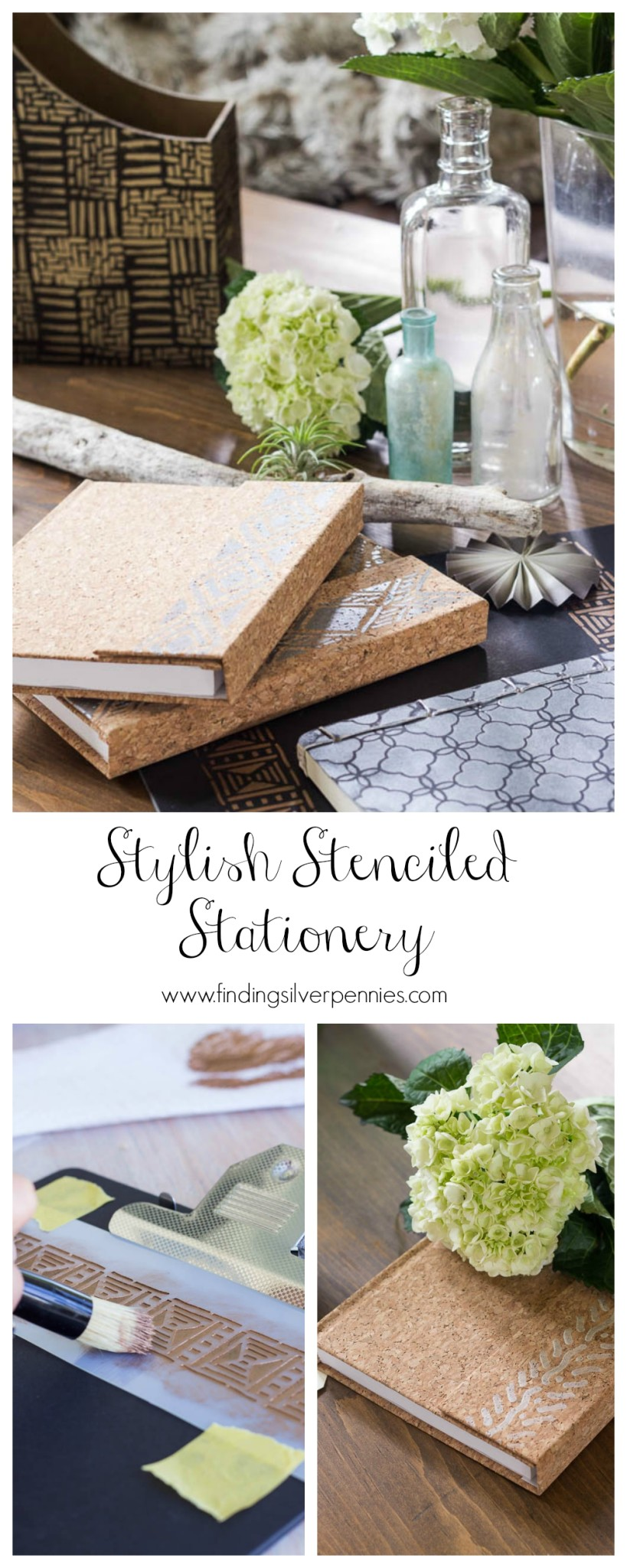 Stylish Stenciled Stationery Finding Silver Pennies