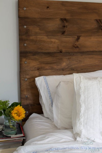 Sunflowers and Woodheadboard