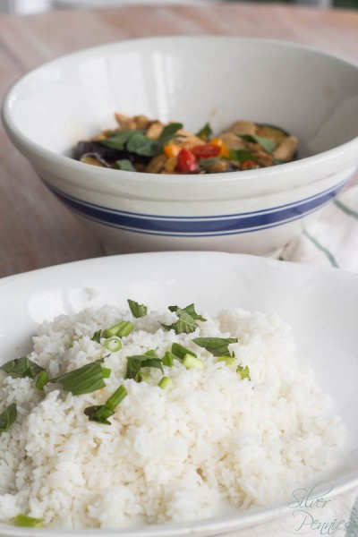 Sweet Chili and Basil Chicken with Rice