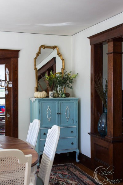 View of Painted Armoire