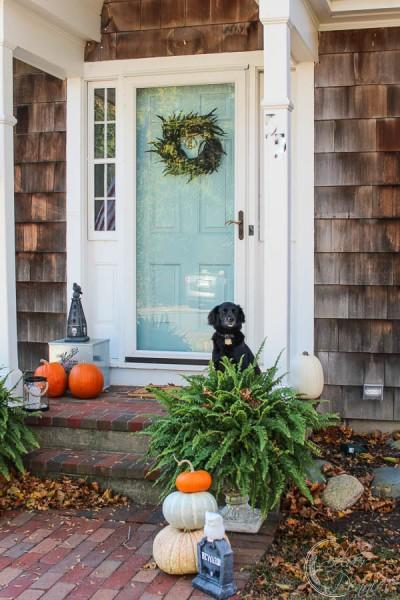 home exterior halloween