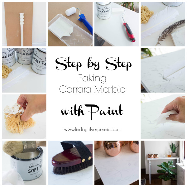 Step by Step Faking Carrara Marble with Paint