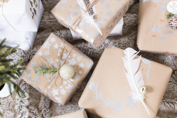 Christmas Gift with DIY Wrapping Paper
