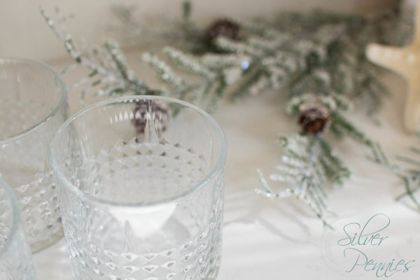 Glasses and sparkly branches