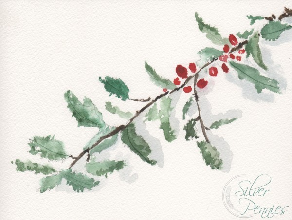 Holly Watercolor Image