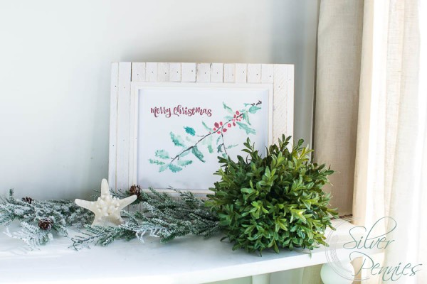 Merry Christmas Printable Framed