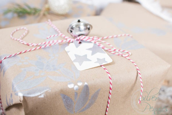Pretty Christmas Parcel tied up in String