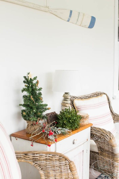 Sunroom Christmas Decorating Finding Silver Pennies