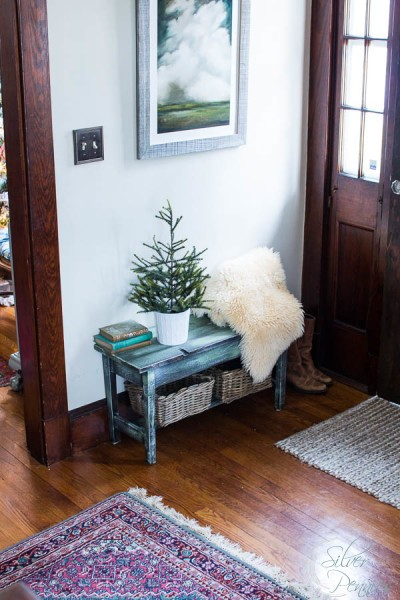 Christmas Decorating in the Entry