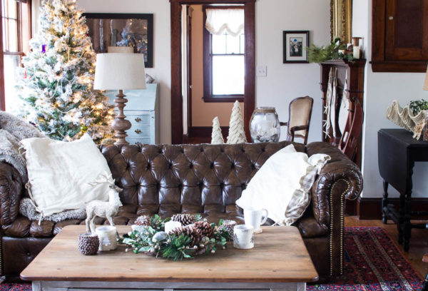 Coastal Christmas in our Living Room