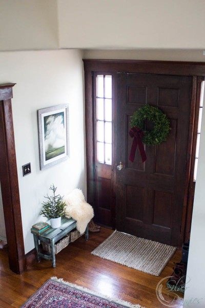 Entry at Christmas