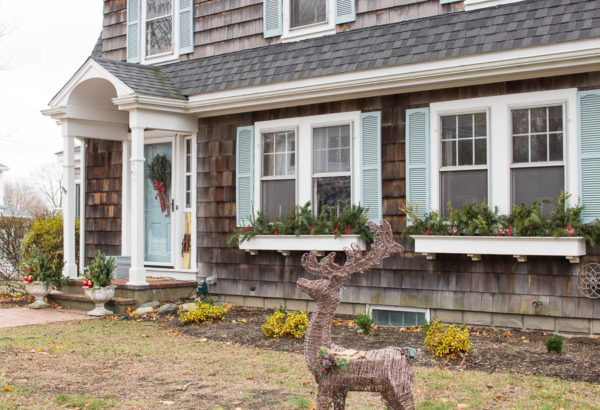 Exterior of Our Home Christmas Finding Silver Pennies