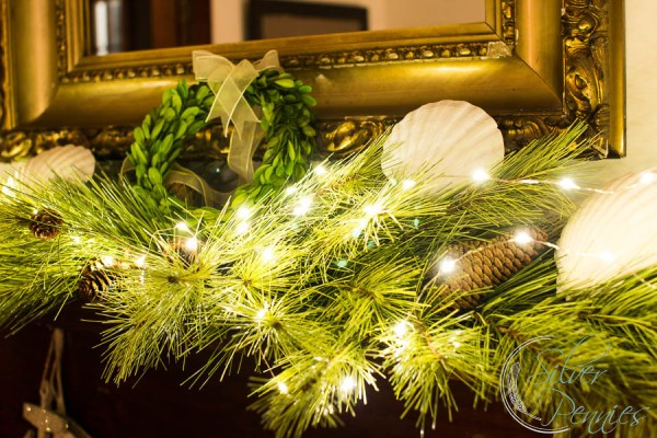 fairylights add magic to the mantel