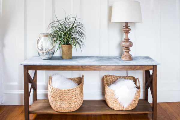 How to Make a Faux Galvanized Table