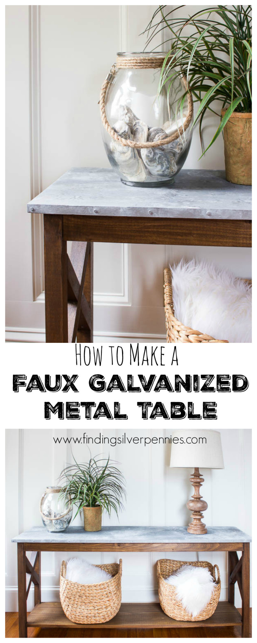 How to Make a Faux Galvanized Table Finding Silver Pennies