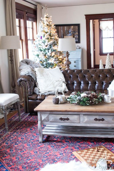Living Room and Finding Silver Pennies Christmas Tour
