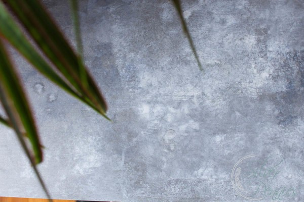 Realistic Surface of Faux Galvanized Table