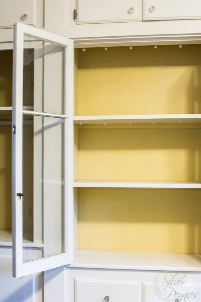 China Cabinet with Yellow Before