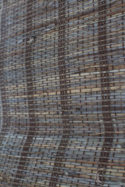 Close Up Texture of Woven Roman Shade