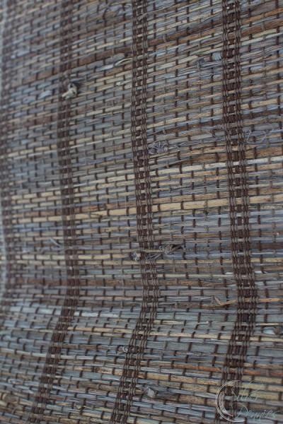 Close Up Texture of Woven Roman Shade