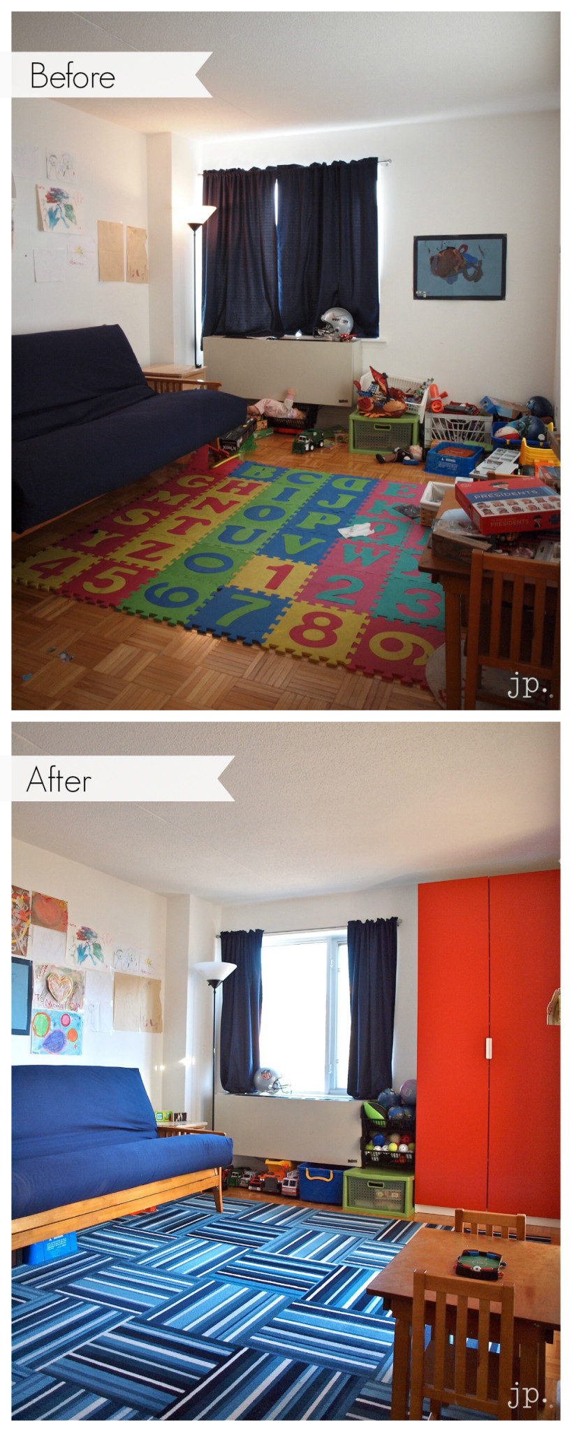 Family Room Organizing and More Tips
