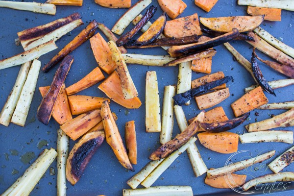 Sweet Potato and Parsnip Fries Start out of the oven